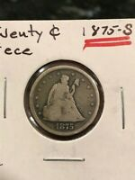 1875 S 20C TWENTY CENT PIECE   FINE  ORIGINAL COIN   ESTATE