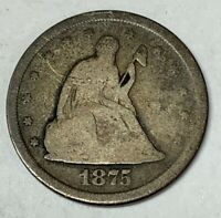 1875 S TWENTY CENT PIECE SILVER COIN