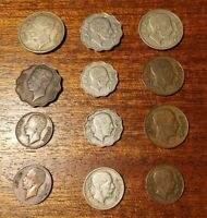 12 DIFFERENT OLD IRAQI COINS