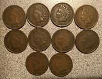 1900 1901 1902 1903 1904 1905 1906 1907 1908 1909 INDIAN HEAD CENT LOT