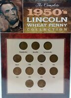 THE COMPLETE 1950'S LINCOLN WHEAT CENT COLLECTION 13 PENNIES