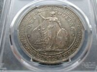 GREAT BRITAIN TRADE DOLLAR 1930 LONDON MINT PCGS AU58 PRID 28 HONG KONG $ SILVER