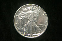 1943 WALKING LIBERTY HALF DOLLAR, EXTRA FINE   FINE POLISHED , 90 SILVER
