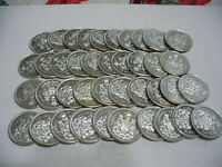 LOT OF 40 1963   CANADA  HALF  DOLLAR  SILVER  COINS  50  CENT  PIECE