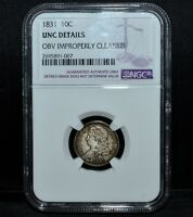 1831 CAPPED BUST DIME  NGC UNC DETAILS  10C UNCIRCULATED BU  NOW TRUSTED