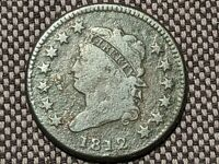 1812 UNITED STATES CLASSIC HEAD LARGE CENT LARGE DATE U.S. EARLY COIN S-290