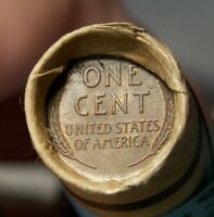 1909 VDB WHEAT CENT END AND 1909 VDB WHEAT CENT END ON ROLL