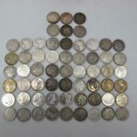60 PC LOT MORGAN SILVER ONE DOLLAR $1 COINS OLD USED CIRCULA
