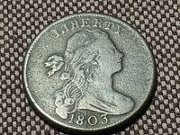 1803 UNITED STATES DRAPED BUST LARGE CENT, SMALL DATE SMALL FRACTION