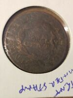 1827 LARGE CENT, PATENT COUNTERSTAMPS