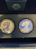 2012 S 2PC SILVER AMERICAN EAGLE PROOF & REVERSE PROOF SET I