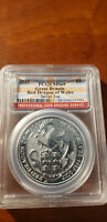 2017 2OZ SILVER GREAT BRITAIN QUEENS BEASTS RED DRAGON OF WALES PCGS MINT STATE 69