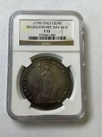 12 CARLINI NAPLES NEOPOLITAN REPUBLIC 1799 LY  SILVER THALER NGC F12