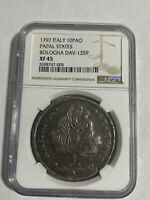ITALY 1797 PAPAL STATES SCUDO OF 10 PAOLI SILVER COIN NGC XF