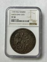 1749 SCUDO SILVER COIN LUCCA ITALIAN STATES ITALY LARGE CROW