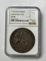 1749 SCUDO SILVER COIN LUCCA ITALIAN STATES ITALY LARGE CROWN NGC VF30