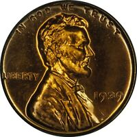1939 PROOF LINCOLN CENT PCGS PR65RD