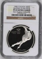 1985 CANADA PLAIN EDGE SPEED SKATING NGC PF65 WILL GRADE HIGHER WITH NCS CONSERV