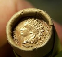 1909 INDIAN HEAD CENT END AND 1863 INDIAN HEAD CENT ENDS ROL