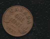 CANADA 1 CENTS 1922