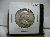 1958 D  BEN FRANKLIN   HALF  DOLLAR      50 CENT PIECE   COIN   58D   AUCTION