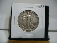 1943 S  WALKER  LIBERTY WALKING  HALF  DOLLAR  50 CENT PIECE  COIN  43S  AUCTION