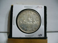 1950  CANADA  SILVER  ONE DOLLAR  COIN   1$   NICE GRADE  1950   28.99  AUCTION