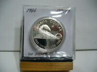 1986   CANADA  SILVER ONE  DOLLAR  COIN   1$    NICE  HIGH  GRADE   86  AUCTION