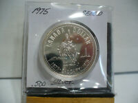 1975   CANADA  SILVER DOLLAR  COIN   1$    NICE  HIGH  GRADE   75    AUCTION