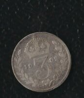 GREAT BRITAIN 3 PENCE 1902  SILVER