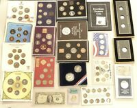 LOT OF COIN SETS AND MISC. COLLECTIONS   SILVER TURKS AND CA