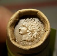 1908 INDIAN HEAD CENT END AND 1898 INDIAN HEAD CENT ENDS ROL