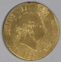 1817   GREAT BRITAIN   1/2 SOVEREIGN   .1178 OZ. AGW   CJA47