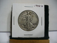 1942 D  WALKER  LIBERTY WALKING  HALF  DOLLAR      50 CENT PIECE   COIN  42D