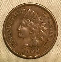 1900 INDIAN HEAD CENT  SOLID COIN