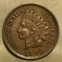 1902 INDIAN HEAD CENT  SOLID COIN