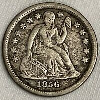 1856 P SEATED LIBERTY DIME SILVER COIN  SMALL DATE L257
