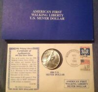 1986 LIBERTY WALKING AMERICAN SILVER EAGLE DOLLAR COIN BRILLIANT UNCIRCULATED
