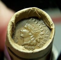 1909 INDIAN HEAD CENT END AND 1884 INDIAN HEAD CENT ENDS ROL