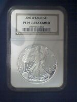 2007 W NGC PF69 ULTRA CAMEO SILVER EAGLE