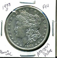 1888 O AU MORGAN DOLLAR 90 SILVER COIN ABOUT UNCIRCULATED COMBINE SHIP$1 WC880