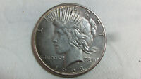 NICE KEY DATE 1928 P SILVER PEACE DOLLAR $1 US COIN   UNGRAD