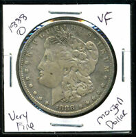 1888 O VF MORGAN DOLLAR  FINE 90 SILVER COIN U.S COMBINE SHIPPING $1 WC995