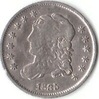 1835 CAPPED BUST HALF DIME, EARLY DATE,  COIN