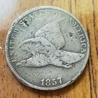 1857 FLYING EAGLE ONE CENT 1C  CHECK IT OUT KM 85 AA483-8