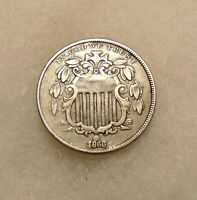 1868 SHIELD NICKEL -  DDO & STRONGLY RPD -   LOOKING COIN
