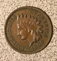1909 INDIAN HEAD CENT  AU TO MS CONDITION