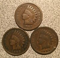 1887 1888 1889 INDIAN HEAD CENT LOT