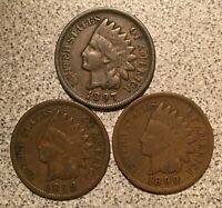 1897 1898 1899 INDIAN HEAD CENT LOT