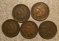 1905 1906 1907 1908 1909 INDIAN HEAD CENT LOT